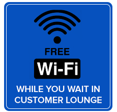 Free wifi in the customer lounge at Metro Used Cars